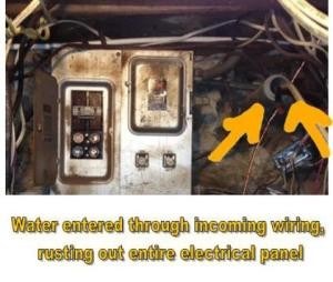 Water In Electrical Panel on